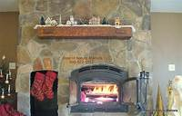 inspiring rustic fireplace mantel Decorating: Awesome Rustic Fireplace Mantels With Stone ...