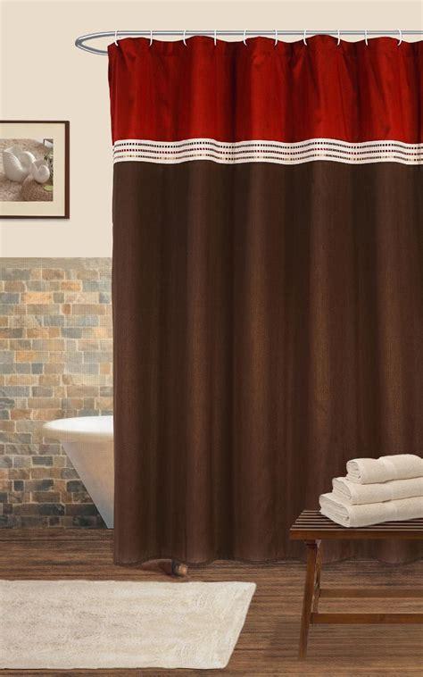 lush decor terra shower curtain redchocolate