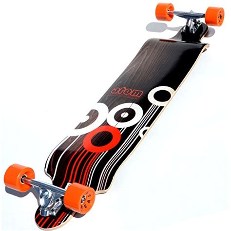 downhill longboard decks uk atom drop deck longboard orange 41 inch