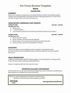 image gallery of teen resumes 22 resume templates for With free targeted resume template