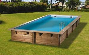 Dimension Piscine Hors Sol : piscine en bois lin a rectangulaire 350 x 650 x 140 cm ~ Melissatoandfro.com Idées de Décoration