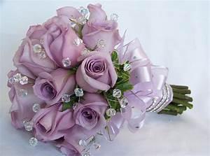 Violet Wedding Bouquet | Light Purple Rose Flowers Wedding ...