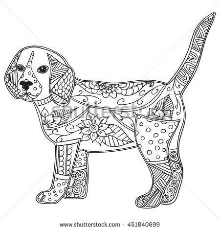 image result  easy zentangle patterns dog coloring
