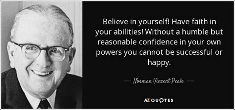 how to be humble without being a doormat norman vincent peale quote believe in yourself