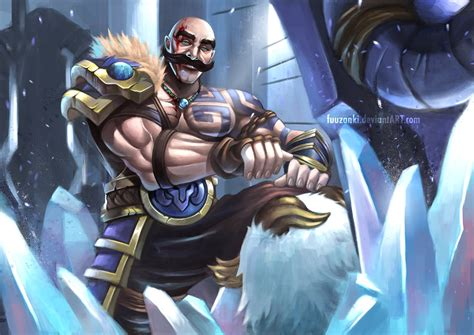 braum fan art league  legends fan art art  lol