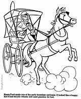 Coloring Horse Pages Carriage History Horseless Buggy Cart American Drawing Rush Gold Printable Raisingourkids Template Help Sketch Kid Printing Inside sketch template