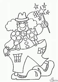 circus clown coloring pages printable