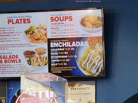 menu  taco palenque edinburg restaurant edinburg