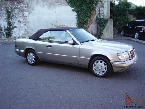 mercedes w124 e220 cabriolet convertible 1996 automatic gold leather
