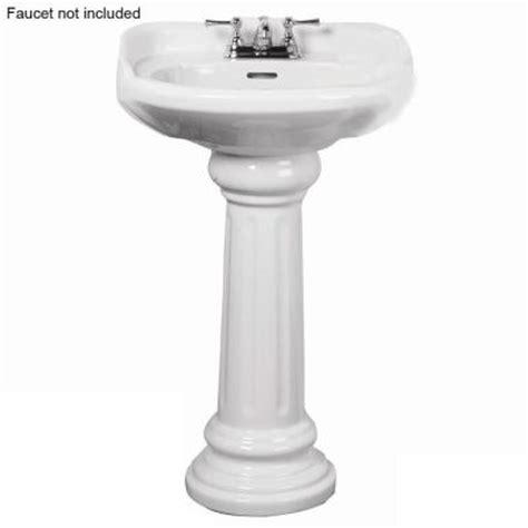 pegasus victoria 26 in pedestal combo bathroom sink for 4