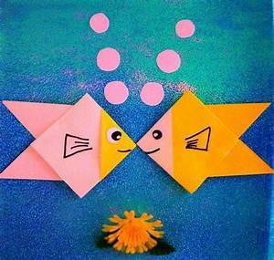 Bricolage Facile En Papier : diy bricolage origami facile peitits enfants pliage ~ Mglfilm.com Idées de Décoration