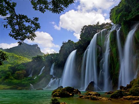 Ban Gioc Detian Falls Cao Bang Province China Hd Wallpaper