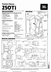 Jbl 250 Ti Service Manual  U2014 View Online Or Download Repair