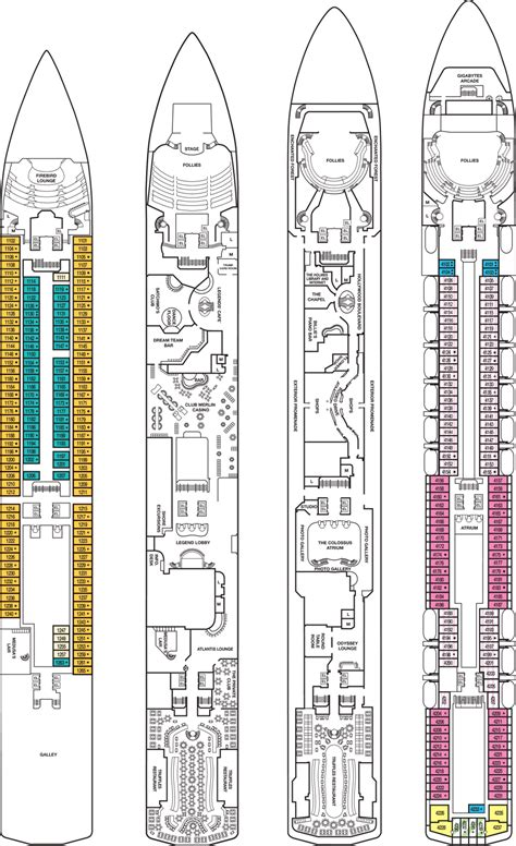 carnival legend deck plan 6 carnival legend