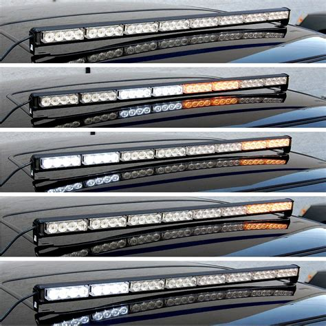 traffic advisor light bar hqrp 32 led white amber traffic advisor emergency flash