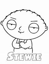 Stewie Coloring Guy Pages Griffin Awesome Peter Drawing Printable Brian Colouring Gangster Cartoon Getcolorings Getdrawings Lois Button Using sketch template