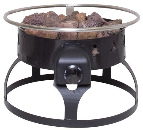 Propane Fire Pit Portable Gas Outdoor Camping Cooking