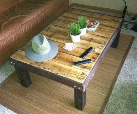 coffee table made out of pallet wood how to make a coffee table out of a wooden pallet easy