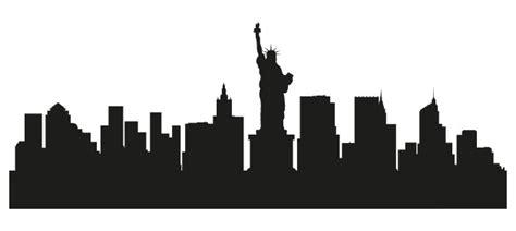 wandtattoo new york silhouette of nyc skyline nisartmacka