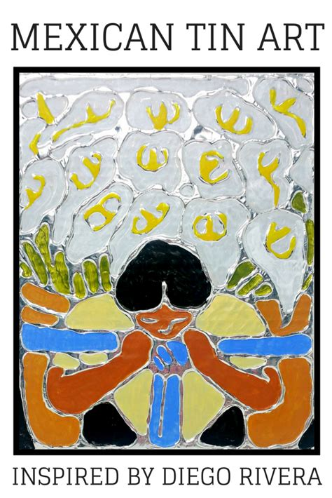 mexican tin art inspired  diego rivera woo jr kids