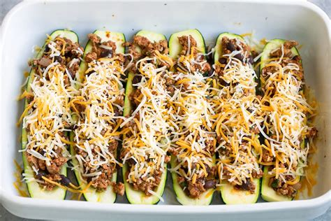 Cheesy Taco Zucchini Boats by Taco Zucchini Boats Cooking