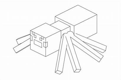 Minecraft Coloring Spider Pages