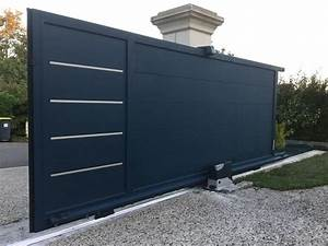 Portail Alu Coulissant 4m : portail aluminium design portail design accord porte entr e ~ Dailycaller-alerts.com Idées de Décoration