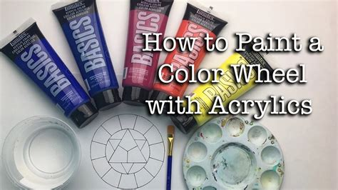 How To Paint A Color Wheel With Acrylics Youtube