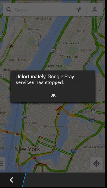unfortunately play services has stopped
