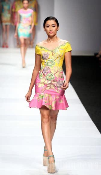 desain mini dress batik pesta fashion pinterest