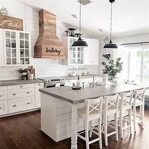 30, Pretty, Farmhouse, Kitchen, Design, Ideas, To, Get, Traditional, Accent
