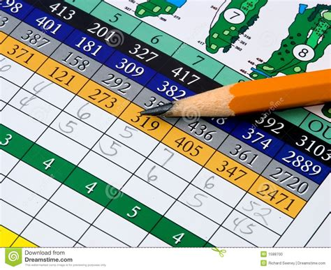 golf scorecard golf scorecard stock photo image 1588700