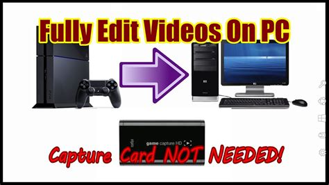 You can easily store 50+ games, so you don't have to delete your favorite classic games to make room for the latest (average game size is 35gb to 50gb). How to: Record Gameplay from PS4 and Edit it on Your PC WITHOUT A CAPTURE CARD! - YouTube