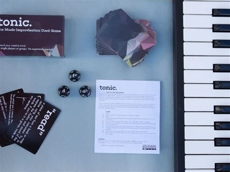 tonic  card dice game  musicians  scott hughes