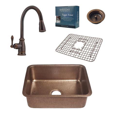 Copper Kitchen Sink Faucet by Sinkology Pfister All In One Renoir 23 In Undermount