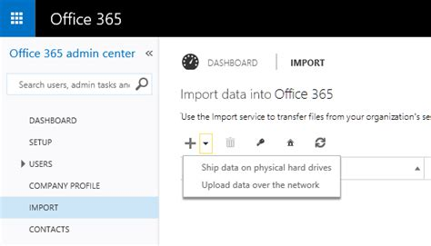 Office 365 Mail Export by Office 365 Import Service Migration To Sharepoint