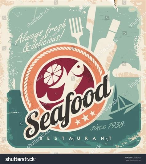 Vintage Poster Seafood Restaurant Retro Paper Stock Vector. Radon Levels Signs. Spectrum Infinity Signs. Employee Signs. Stress Disorder Signs. Game Signs Of Stroke. Svg Signs. Contruction Signs Of Stroke. Pneumoperitoneum Signs Of Stroke