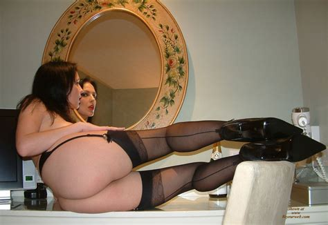 Hot Ass And Legs In High Heels And Stockings   March