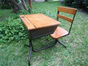 antique school desk american seating company by homealonevintage