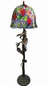 tiffany style floor lamp tree trunk and vine leaves base With floor lamp tree trunk base