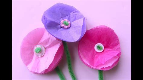 simple tissue paper flowers easy craft flower