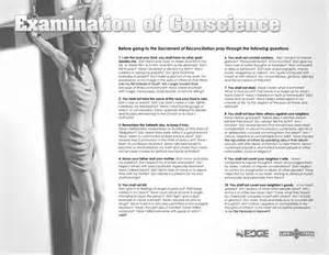 Catholic Confession Examination of Conscience