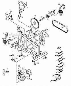 nordictrack cex32530 parts list and diagram With exercise bike diagram