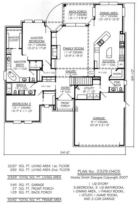bedroom  bathroom  story house plans  bedroom