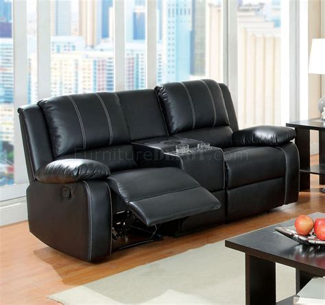 black leather recliner loveseat gaffey reclining sofa cm6826 in black leather match w options