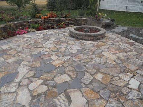 rock patio pictures 3 river patio ledge stone wolverine rock and mulch