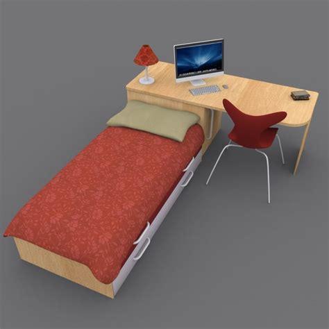 bed and desk set 3ds max bed desk set