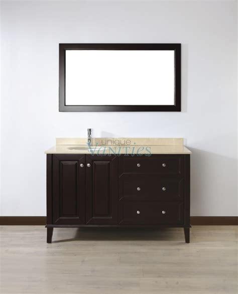 55 Inch Vanity Sink - 55 inch single sink bathroom vanity with choice of top in