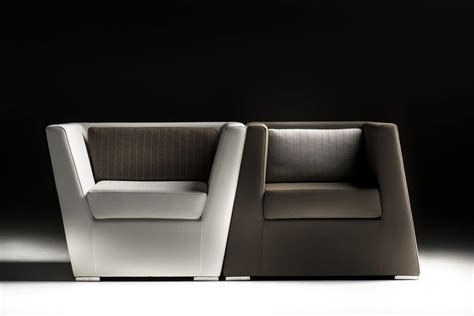 Stylish Leather Armchair, Approachable, For Hotel Suites