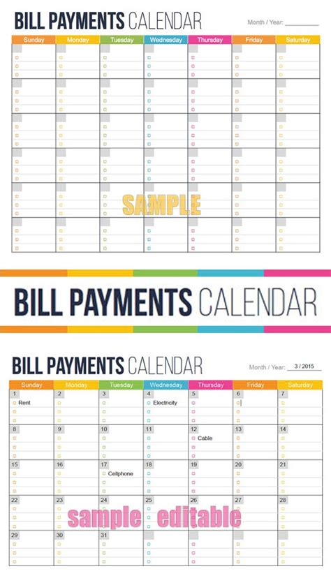 bills due    glance bill payment